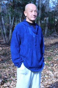 画像1: 藍染めパーカー